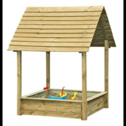 Bac à sable avec toiture fixe