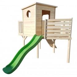Cabane bateau sur pilotis en bois - Cabane enfant