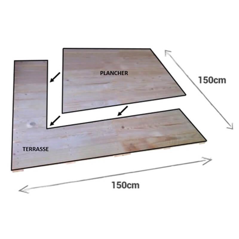 Module Terrasse et Plancher intérieur de maison de 2.25 m²