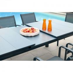 PACK MILOS GRIS : Ensemble repas 12 personnes - fauteuils + table