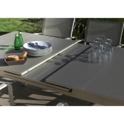PACK MILOS IVOIRE : Ensemble repas 10 personnes - fauteuils + table