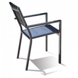 PACK IBIZA TEXTURE FUMEE : Ensemble repas 10 personnes - fauteuils + table