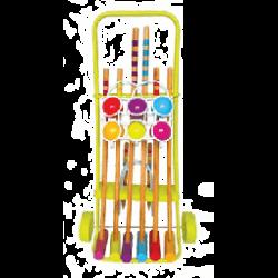 Croquet famille 6 joueurs sur chariot métallique