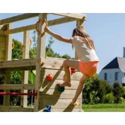 Aire de jeux en bois avec toboggan - Crossfit