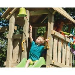 Aire de jeux en bois avec toboggan - Kiosk (hauteur pilotis :150 cms)