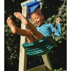 Aire de jeux en bois avec toboggan et balançoires - Lookout et Swing