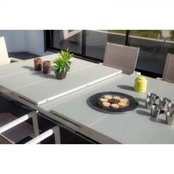 PACK IBIZA CLASSIC IVOIRE : Ensemble repas 10 personnes - fauteuils + table