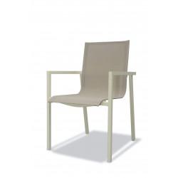 PACK IBIZA CLASSIC IVOIRE : Ensemble repas 12 personnes - fauteuils + table