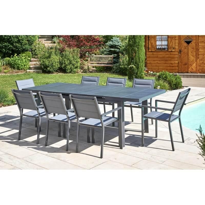 PACK OUESSANT CONFORT : Ensemble repas 10 personnes - fauteuils + table
