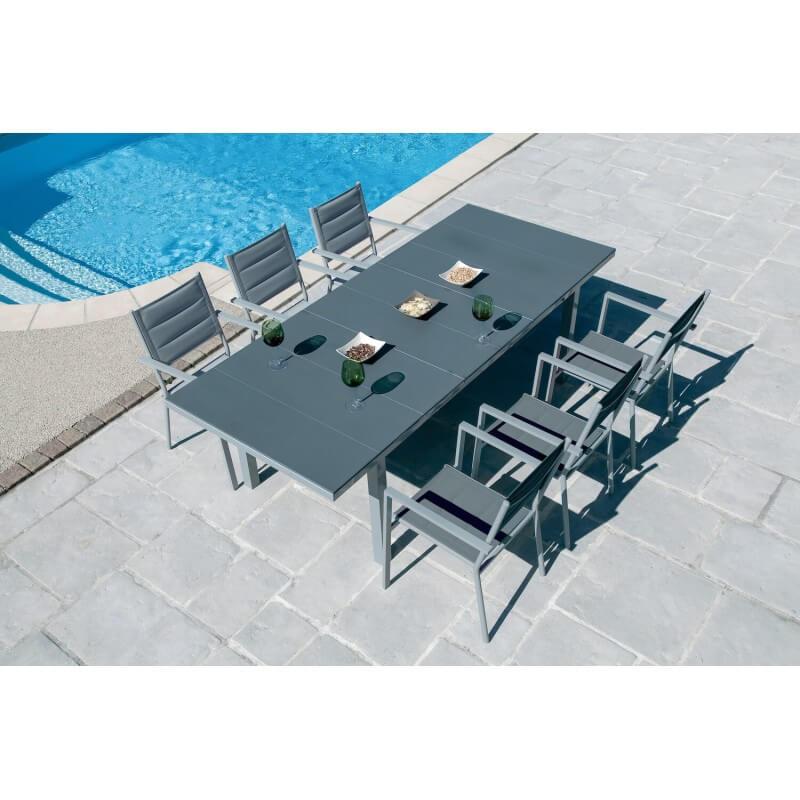 PACK TENERIFE : Ensemble repas 10 personnes - fauteuils + table