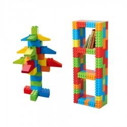 Boite de 121 briques géantes en plastique