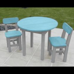 Table ronde pour enfant bleue