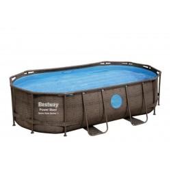 Bâche solaire 404 x 230 cm pour piscine hors sol ovale Power Steel™ 424 x 250 x 100 cm - Bestway