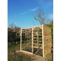 Aire de jeux/cube multi-escalade en bois Autoclave