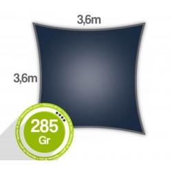 Voile d'ombrage carré 3,6 x 3,6 x 3,6 x 3,6m