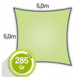 Voile d'ombrage carré 5,0 x 5,0 x 5,0 x 5,0m