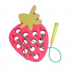 Fraise à lacer - Jeux Montessori