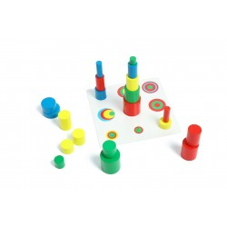 Jeu des cylindres colorés - Jeux Montessori