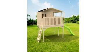 Maisonnette enfant en bois sur pilotis