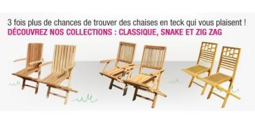 Chaises et fauteuils en Teck