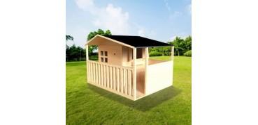 Maisonnettes en bois avec terrasse